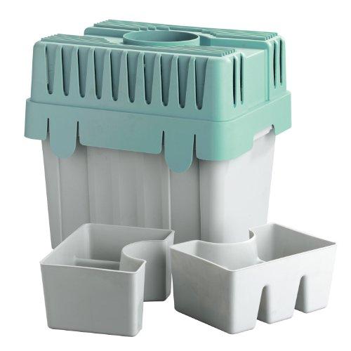 WENKO Wäschetrockner-Kondensator - für Abluftwäschetrockner, 8 Liter Volumen Fassungsvermögen: 8 l, Polypropylen, 29 x 29 x 23.5 cm, Grau