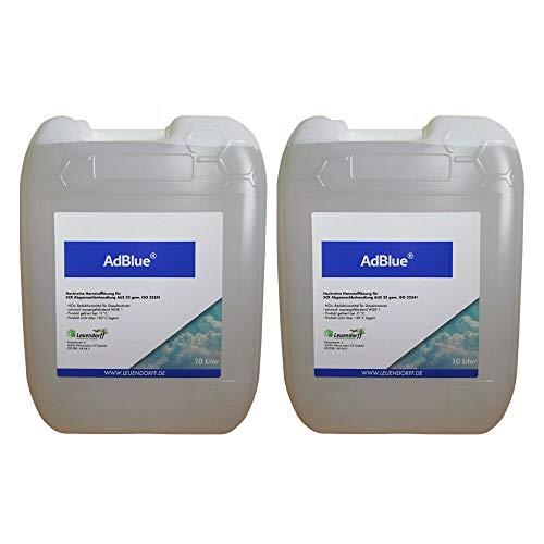 Leuendorff AdBlue Hochreine SCR Harnstofflösung ISO 22241, 2x10 Liter inkl. Ausgießer