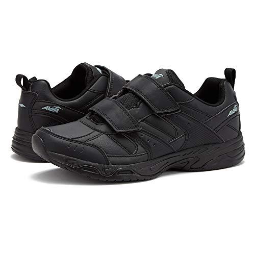 AVIA Men's Avi-Union II Strap Food Service Shoe, Jet Black/Castle Rock, 8.5 Wide US