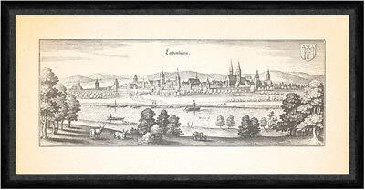 Kunstdruck Ladenburg Neckar Rheinpfalz St. Gallus Kirche Faks_Merian 0639