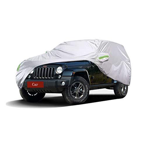 Couverture de voiture Compatible avec Jeep Wrangler Couverture de la voiture SUV épais Oxford Tissu Protection contre le soleil Couverture chaude anti-pluie Housse de voiture