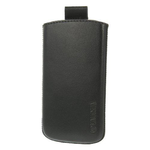 Valenta Pocket 17 Leder Tasche für Apple iPhone/Nokia E7/LG Optimus Speed 2X P990/Samsung Galaxy S II/HTC Sensation schwarz