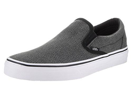 Vans Unisex Classic Slip-on (Suiting) Black/True White Skate Shoe 9 Men US/10.5 Women US
