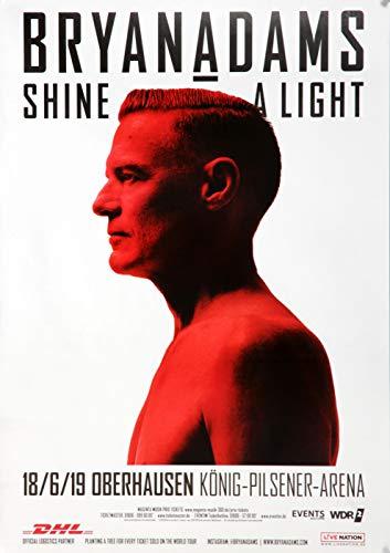 Bryan Adams - Shine A Light, Oberhausen 2019 » Konzertplakat/Premium Poster | Live Konzert Veranstaltung | DIN A1 «