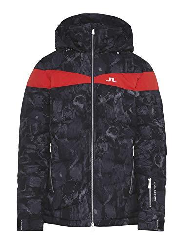 J.Lindeberg Crillon Down Jacket JL 2L Print Schwarz, Herren Daunen Daunenjacke, Größe L - Farbe Black Sport Camo