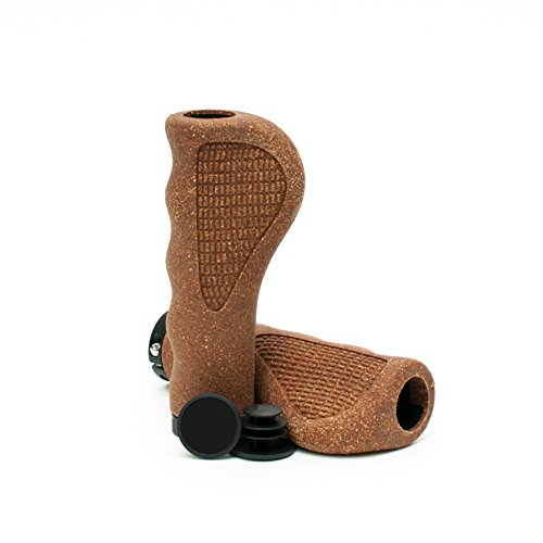 Asti Natural Cork Foam Bicycle Grips – Eco-Friendly Bike Handlebar Grips with Ergonomic Design for Comfort, Shock Absorbing and Non-Slip, Vintage Style for Cruiser and Fixie, Easy Installation