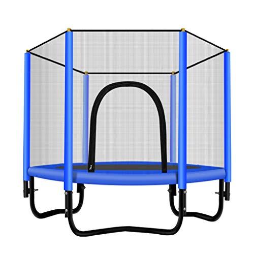 WHFD-Jump Kids Junior Trampoline Household,Exercise outdoor Mini Trampolines Safety Nets-Enclosure kit Maximum load-150KG ,diameter-5ft ( Color : Blue-5 ft X5 ft )