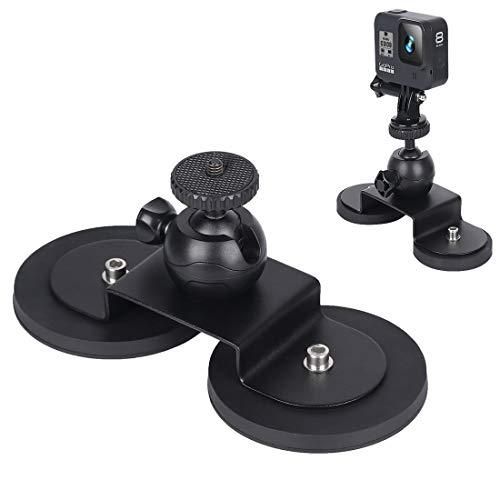 675 Home for GoPro Hero 8/6 Auto a Ventosa Staffa Sport Accessori Camera, Dimensioni: L Pratico (Color : Black)