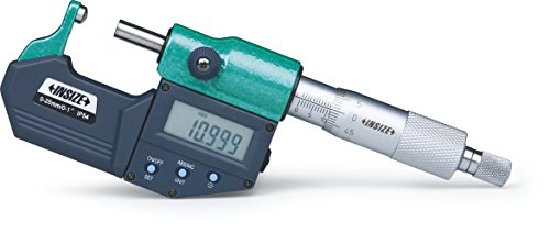 INSIZE 3560-50A - Micrómetro digital esférico, punta de husillo plano, 25 mm-50 mm