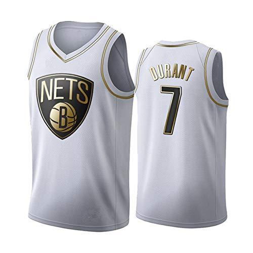 NNBBAA Hombres NBA Baloncesto Jersey # 7 Durant Jersey Brooklyn Nets Jersey Bordado Camisetas Deportivas Top