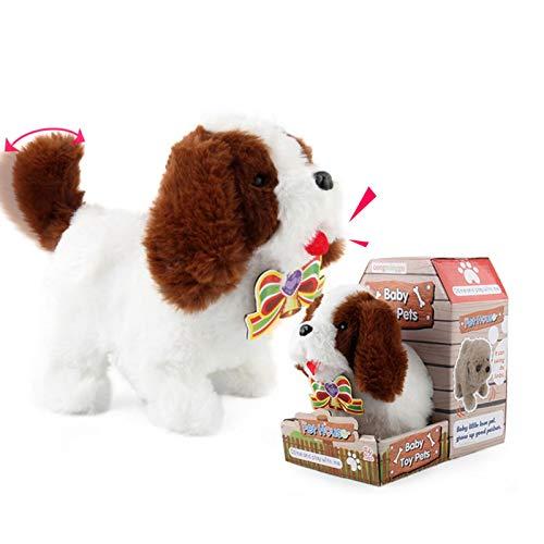 Plüsch gehendes & sprechendes Hundespielzeug Elektronischer interaktiver Haustierwelpe mit bellenden Geräuschen, Plüschtier Hundespielzeug, Geschenk für Kinder Jungen Mädchen
