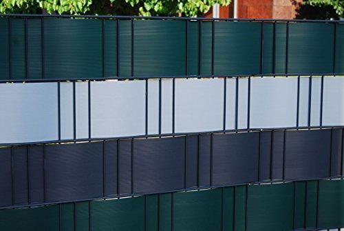 Camas Hart PVC Sichtschutz Streifen Blickdicht Guck Nich (RAL7016)