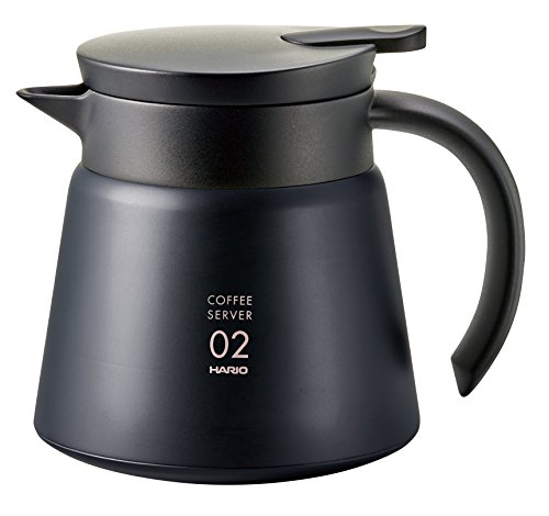 Hario V60 Insulated Stainless Server 600 ml | Thermoskanne | Schwarz | VHS-60B