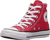 Converse - Youths Chuck Taylor All Star Hi - Sneakers Basses - Mixte Enfant - Rouge - 27 EU