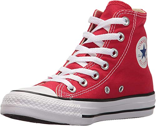 Converse - Chuck Taylor All Star Hi, Sneaker Unisex – Bambini, Rosso, 35