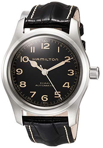 Reloj de Hombre HAMILTON Khaki Field Murph Auto en Cuero Negro y Acero H70605731
