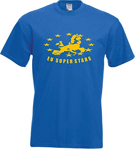 Europese Unie Brexit Mensen Stemmen Referendum EU Kaart Super Sterren Mens T Shirt
