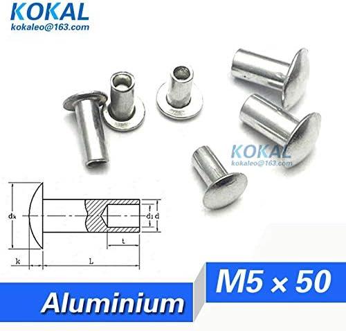 Ochoos Popular YKAL-M550 50PCS Rapid rise M5 Series oval hollow D head rivet half