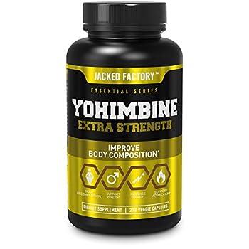 Yohimbine Extra Strength Supplement 2.5mg 270 Capsules - Premium Yohimbe Bark Extract Supplement for Body Recomposition Energy & More - Zero Fillers - 270 Non GMO Veggie Capsule Pills
