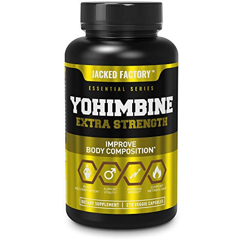 Yohimbine Extra Strength Supplement 2.5mg, 270 Capsules - Premium Yohimbe Bark Extract Supplement for Body Recomposition, Energy & More - Zero Fillers - 270 Non GMO Veggie Capsule Pills
