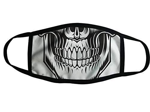 Mundschutz Nano-Technologie Atemschutzmaske Gesichtsmaske Waschbar Behelfsmaske (14 - Skelett Head)