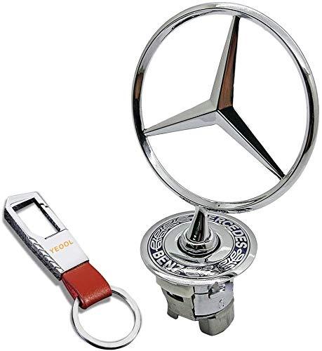 YEOOL Emblemas Capó Campana Primavera Logo Emblema Badge A2108800186 para Mercedes-Benz W202 W203 W204 W210 W211 W212 W220 W221 Classe E S C
