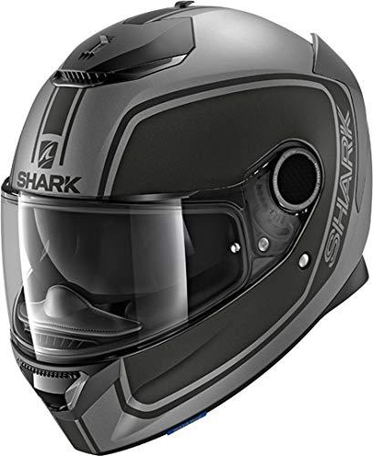 Shark Casque moto SPARTAN 1.2 PRIONA MAT AKA, Noir/Anthracite, XL