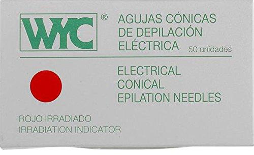 WYC - Agujas Cónicas de Depilación nº 1.5, 50 unidades