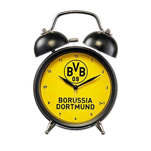 Borussia Dortmund soundwekker retro, klok wekker geel horloge BVB 09 - plus bladwijzer I Love Dortmund