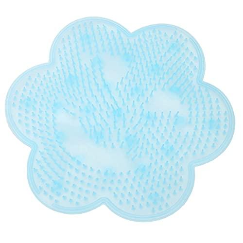 JSBAN Tampon de Massage de Bain Silicone aspirateur Tasse de Douche de Douche de Salle de Bain antidérapante (Color : Blue)