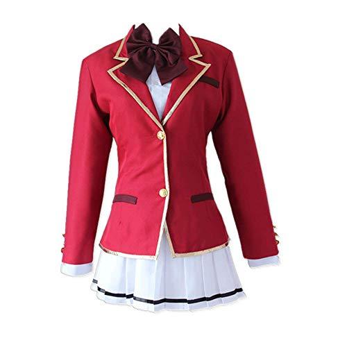 MLYWD 4PCS / Set Fotografía Cosplay Disfraz Anime Aula de la élite Horikita Suzune JK Vestido de Uniforme de la Escuela Secundaria Japonesa Peluca Opcional
