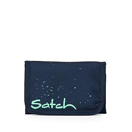 Satch Wallet Space Race Dokumententasche für Freizeit und Sportbekleidung, Unisex, Kinder, Blau / Grün, Einheitsgröße