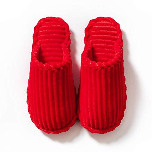Nwarmsouth Zapatillas de Paseo para Hombre,Zapatos de Boda Rojos de algodón, Pantuflas...