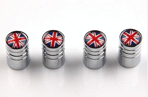 Valvole England, GB, Argento, 4pezzi,, valvole wadle Shop