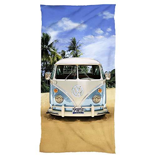 BERONAGE ORIGINAL Volkswagen badhanddoek VW Bulli 75 cm x 150 cm - NIEUW & OVP - 100% katoen VW Bus T1 EXCLUSIEF Model 001 BLAUW - STRANDLAKEN van Velours kwaliteit