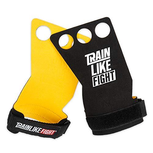 TRAINLIKEFIGHT Icon Yellow 3H - Calleras para Crossfit, calistenia, Ejercicios gimnásticos, protección para Tus Manos. (M)