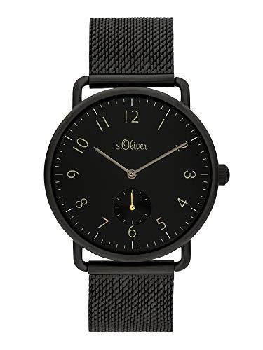 s.Oliver Herren Analog Quarz Uhr mit Edelstahl Armband SO-3939-LQ