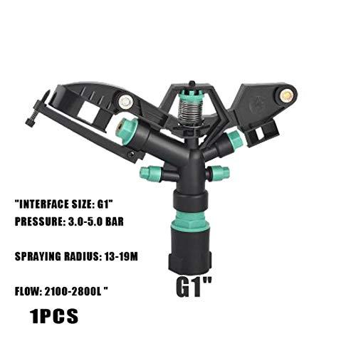 """Arroseurs G1"""" 360 ° Vitesse d'entraînement degrés de rotation Jet d'eau Buse d'arrosage goutteur d'arrosage usine de jardin pelouse Outils d'irrigation Light Green"""