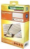 """Windhager Toldo Liso"""" Vela de protección Solar tecnología de tensado de Cables 270 x 140 cm, Ideal para pérgola o Invernadero, Blanco, 10874"""