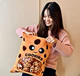 Kawaii Cookie Plushie | 16 Inch | Room Decor for Girls, Boys, Baby Gift | Toy Plush Pillow Stuffed Animal | Cute Cartoon / Plush Boba Tea | Bubble Tea Cup Inspired | Soft Pillow, Plush Toy Gifts