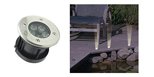 5 LED-spots 5 W, koud licht, lamp, buitenverlichting.