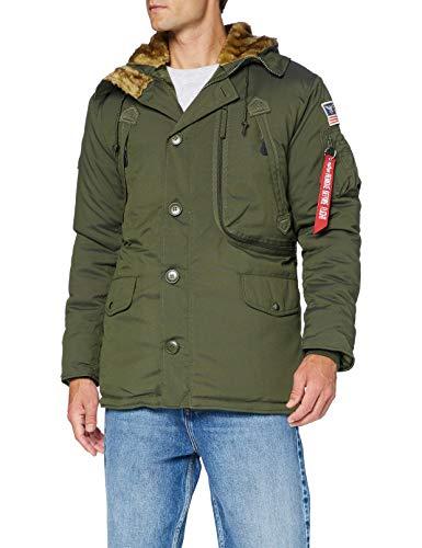 ALPHA INDUSTRIES Polar Jacket Parka, Verde (Dark Green), XL para Hombre