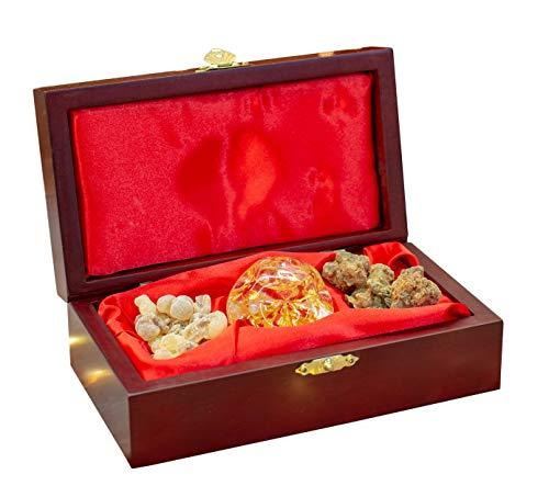 Three Kings Gifts - Juego de caja individual estándar de incienso y mirra, 6 3/4 x 3 3/4 x 2...