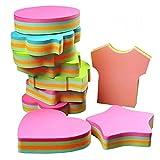 Notas autoadhesivas,autocollants amovibles - 6 plaquettes par paquet - 100 feuilles par Pad -Per Pad 4 couleurs - Paquet 6 formes différentes à l'intérieur-76mm x 76 mm