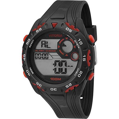 Relógio Masculino Clubes Technos Vitória Digital Esportivo Vfc13602/8a