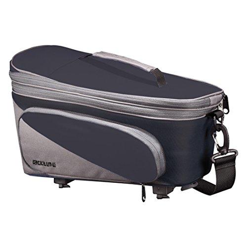 Racktime Unisex– Erwachsene Talis plus Gepäckträgertasche, schwarz, 1size