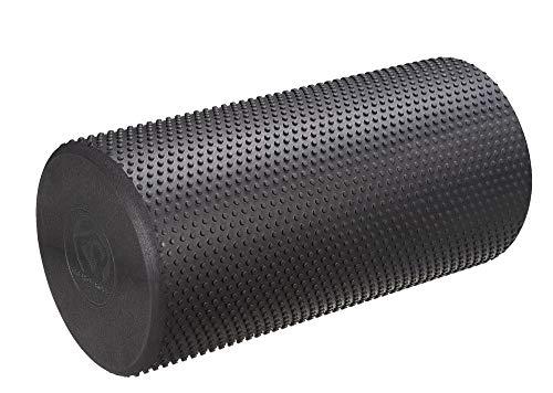 Trendy Sport Pilates Roll, Fitnessrolle, Physio-Rolle Pequeno Länge 30 cm, Ø 15 cm in schwarz, Optik marmoriert