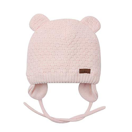 BAVST Baby Beanie Hat for Winter with Earfalp Cute Bear Kids Toddler Girls Boys Warm Knit Cap 0-2Years(Pink, L)