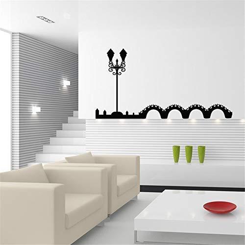 Elegante lámpara de noche con citas inspiradoras pegatinas de pared para sala de estar dormitorios niñas niños pared calcomanías vinilo decoración del hogar