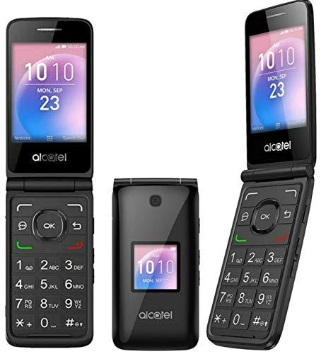 Flip Phone 4G LTE GSM Alcatel Go Flip Factory Unlocked BIG BUTTONS + External LCD Bluetooth WIFI Mp3 Camera Elderly A405DL